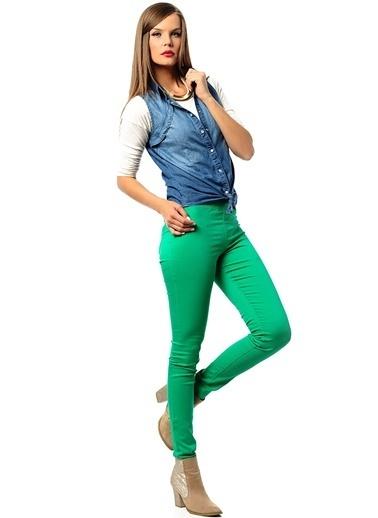 Vero Moda Jean Pantolon Yeşil